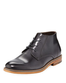 Kenneth Cole Men's Shiny Leather Ankle Boots