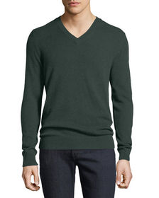 Neiman Marcus Men's Cashmere V-Neck Sweater
