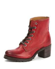Frye Sabrina Leather Lace-Up Boots