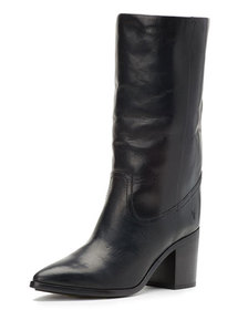 Frye Flynn Leather Mid-Calf Pull-On Boots
