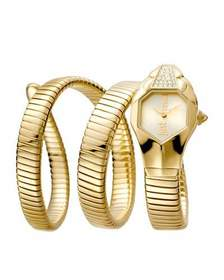 Just Cavalli 22mm Glam Chic Coil Bracelet Watch Ye