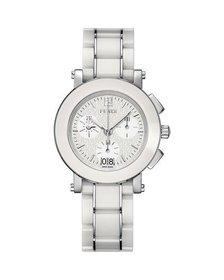 Fendi 6610G Ceramic Chronograph Watch White