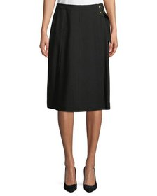 Iconic American Designer A-Line Wrap-Front Crepe S