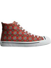 Burberry Tiled Archive Print Cotton High-top Sneak