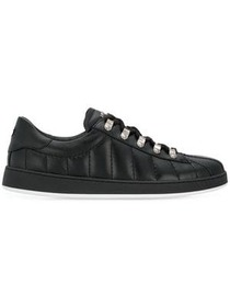 Balmain quilted lace-up sneakers