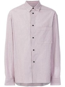 Lanvin striped straight hem shirt