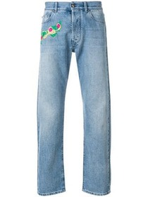 Versace embroidered detail jeans