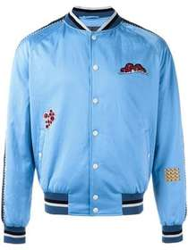 Lanvin embroidered patch baseball bomber