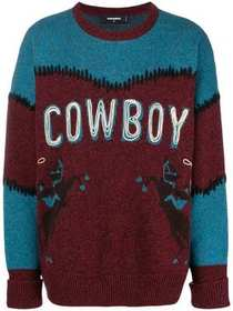 Dsquared2 cowboy printed sweater