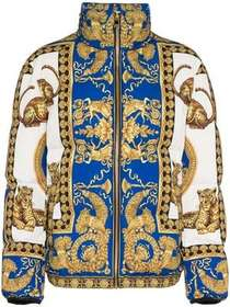 Versace Signature Baroque feather down puffer jack