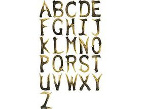 Rivers Edge Antler Letters