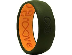 Groove Life Silicone Ring – Moss/Orange