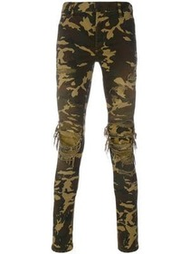 Balmain distressed camouflage trousers