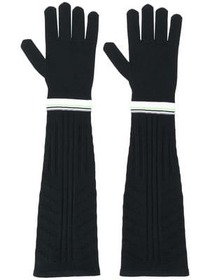 Prada long technical gloves