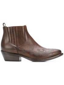 Etro carved ankle boots