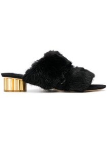 Salvatore Ferragamo open-toe fur mules