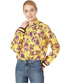 Juicy Couture Etched Floral Cinched Pullover with