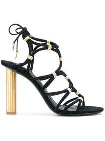 Salvatore Ferragamo metallic strappy sandals