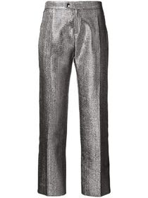 Chloé lame metallic cotton blend trousers