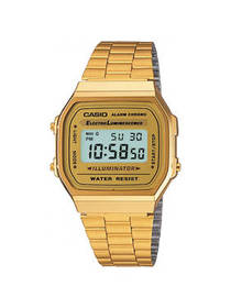 Casio Casio Gold-Tone Stainless Steel Mens Watch A