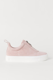 Pile-lined Suede Sneakers