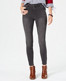 Style & Co Power Sculpt Curvy-Fit Skinny Jeans, Cr