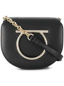 Salvatore Ferragamo Gancini ornament shoulder bag