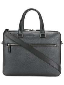 Salvatore Ferragamo textured laptop bag