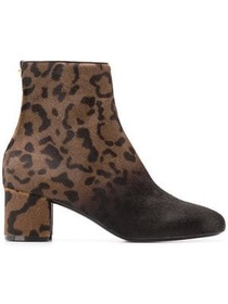 Salvatore Ferragamo Hollow leopard booties