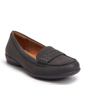 Womens Perforated Comfort Loafers