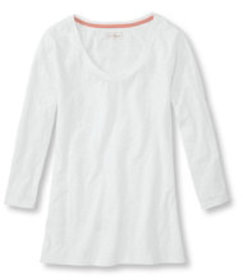 West End Fitted Tee, Three-Quarter-Sleeve Scoopnec