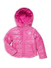Body Glove Little Girl's Active Puffer Jacket PINK