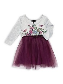 Zunie Little Girl's Floral Mesh Dress MULTI