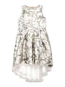 Iris & Ivy Girl's Floral High-Low Fit-&-Flare Dres