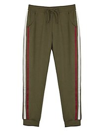 Ally B Girl's French Terry Jogger Pants OLIVE