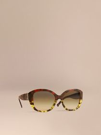 Buckle Detail Oversize Square Frame Sunglasses in