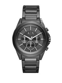 Armani Exchange Drex Stainless Steel Black Dial Ch