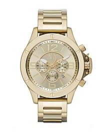 Armani Exchange Mens Yellow Goldtone Stainless Ste