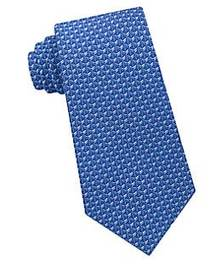 Michael Kors Geo Interlink Silk Tie BLUE