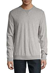 Black Brown 1826 Striped Crewneck Sweater MUTED CH