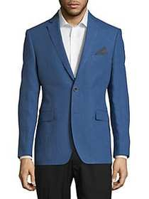 Black Brown 1826 Linen Slim-Fit Sportcoat BLUE