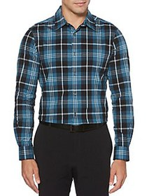 Perry Ellis Regular Fit Stretch Exploded Plaid Shi