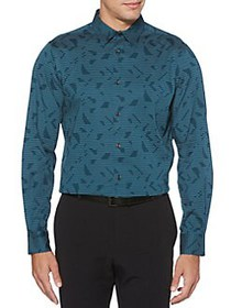 Perry Ellis Regular Fit Stretch Abstract Stripe Sh