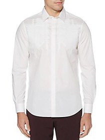 Perry Ellis Embroidered Long Sleeve Button Down Sh