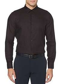 Perry Ellis Slim Fit Check Long Sleeve Button Down