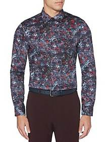 Perry Ellis Abstract-Dot Stretch Shirt PORT