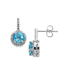 Lord & Taylor Sterling Silver Blue and White Topaz
