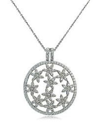 Lord & Taylor Cubic Zirconia and Sterling Silver F