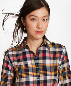 Madras Cotton Fitted Shirt