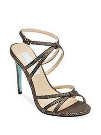 Betsey Johnson Myla Textured Ankle-Strap Sandals B